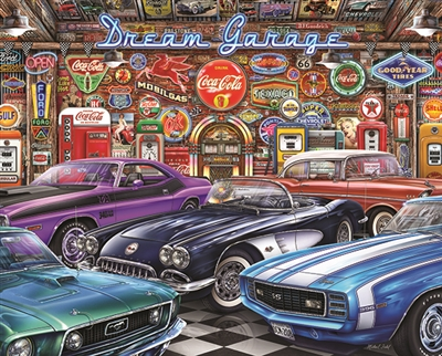 DREAM GARAGE 1000 Piece Jigsaw Puzzle