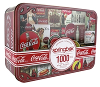 Coca-Cola Tin Signs 1000 Piece Jigsaw Puzzle for sale by Springbok Puzzles.