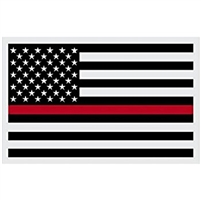 US Thin Red Line Flag - 3' x 5' - Sewn Nylon