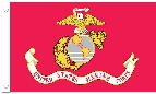 U.S. Marines Flag w/ Pole Hem - 3' x 5' - Nylon