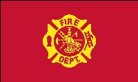 Fire Department Flag - 3' x 5' - Nylon