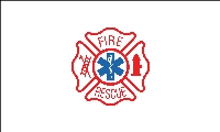 Fire Rescue Flag - 3' x 5' - Nylon
