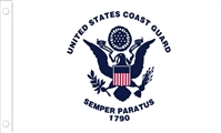 "U.S. Coast Guard Flag - 12"" x 18"" - Nylon"