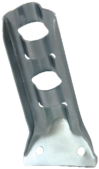 "Stamped Steel Flag Pole Bracket - For 1/2"" Pole Diameter - Silver"