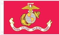 U.S. Marines Flag - 3' x 5' - Poly-Cotton Blend
