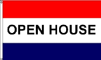 Open House Message Flag - 3' x 5' - Nylon
