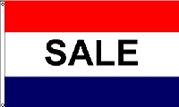 Sale Red & Blue Message Flag - 3' x 5' - Nylon