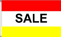 Sale Red & Yellow Message Flag - 3' x 5' - Nylon