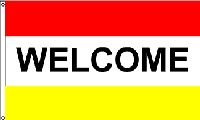 Welcome Red & Yellow Message Flag - 3' x 5' - Nylon