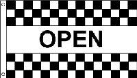 Open Checkered Message Flag - 3' x 5' - Nylon