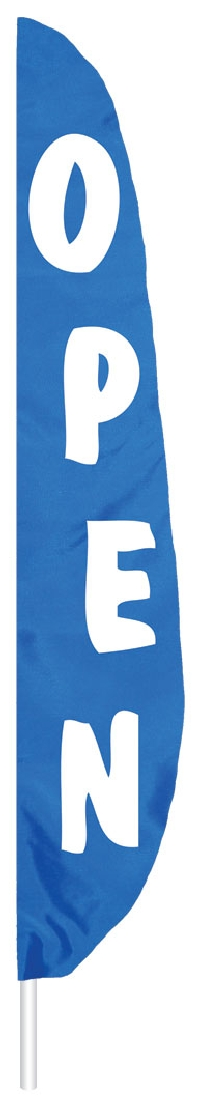 "Blue Welcome Feather Flag - 7' x 17"" - Nylon"