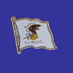 Illinois Lapel Pin - Single