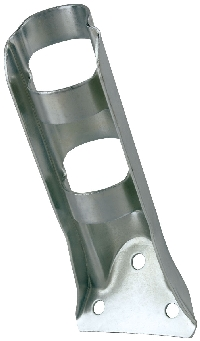 "Stamped Steel Flag Pole Bracket - For 1 1/4"" Pole Diameter - Silver"