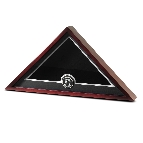 US Flag Display Case with POW MIA Medallion - No Flag