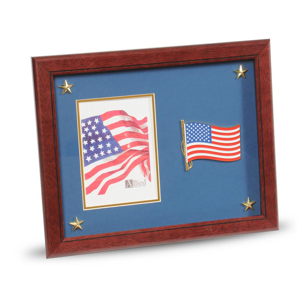 Allied Flag And Frame