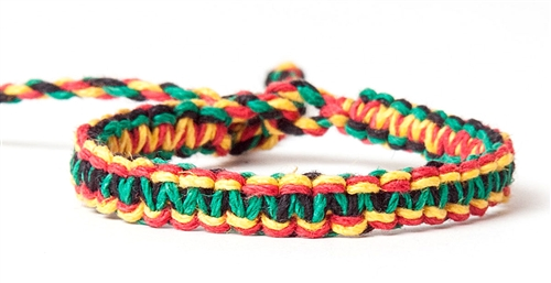 Hemp Cord Macrame Bracelet Anklet Larger Photo Email A Friend