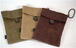 PUR140-CR Hemp Corduroy Button Purse