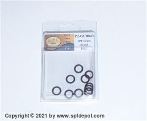 GC0043 Check Valve O-ring 10/Pack. 113137 for GlasCraft,Graco P2 Guns