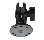 "MOUNT WITH ROUND BASE & SHORT DOUBLE SOCKET ARM FOR 1"" BALL"