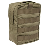 SO TECH BLOCS ZIPPERED ACCESSORY POUCH. TALL - COYOTE BROWN