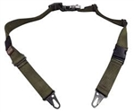 TAB GEAR Regular Sling (Fastex Buckles) with HK Hook swivel attachments Green