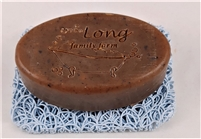 Long Farm Amber Goat Milk soap with Almond meal.