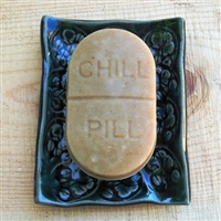 Lavender Chamomile Goat milk soap in a Chill Pill mold