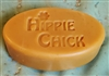 Patchouli & Cassia Goat Milk soap in the Hippie Chick mold