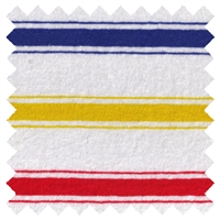 <B>ORDER#: CA-K2-P1C3</B> <BR>55% Hemp, 45% Organic Cotton Jersey Red/Blue/Yellow Stripes - Weight: 5 oz. Width: 72""