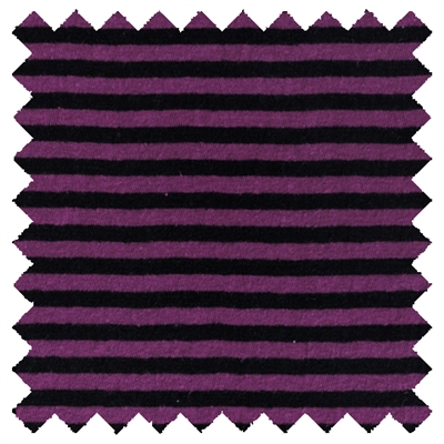 "<B>ORDER#: CA-K2-P4C2</B> <BR>55% Hemp, 45% Organic Cotton Jersey Purple & Black Stripes - Weight: 5 oz. Width: 63"" Open"