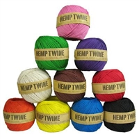 <B>ORDER#: TWINEBALL-1MM-DYED</B> <BR>100% Hemp Twine, 1mm, Dyed