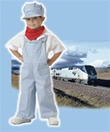 Toddler Amtrak Train Engineer Boys Costume