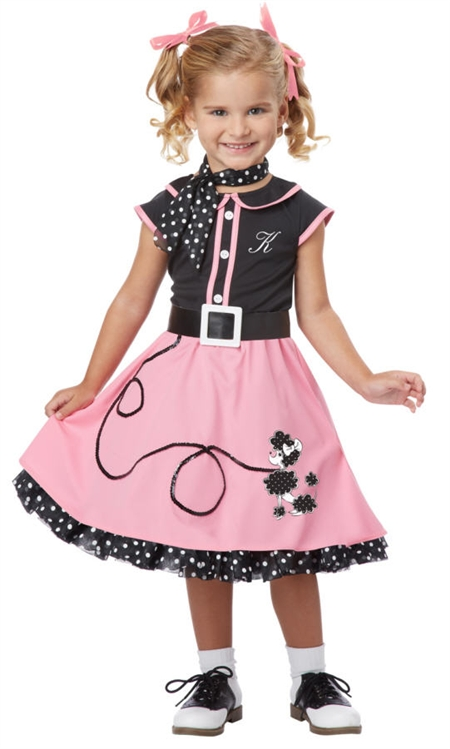 Alternative Views  sc 1 st  SpookShop & 50u0027s Poodle Skirt Costume for Toddler Girls - 50s