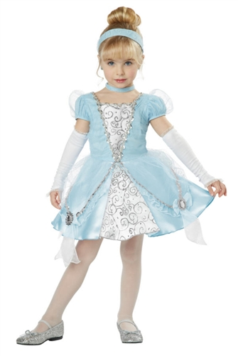 Deluxe Toddler Girl's Cinderella Costume for Halloween