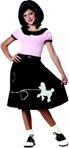 Girls 50's Poodle Skirt Costume