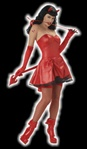 Sexy Bettie Page Devil Adult Costume