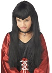 Black Vampire Girl Wig - Child