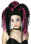 Tokyo Pop Princess Adult Pink and Black Crimped Wig