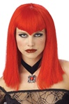 Red Vamp Adult Wig