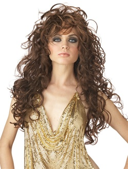 Long Brown Wavy Seduction Adult Wig