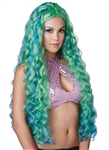 Long and Wavy Blue Green Mermaid Wig - Sea Siren
