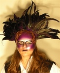 Amethyst Feather Mask - Accessory