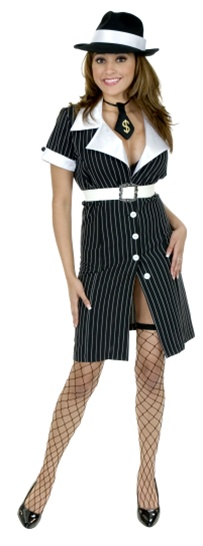 Gangster Moll Dress Costume - Adult