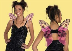 Small Pink Gothic Wings