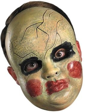 Plastic face mask - smeary doll