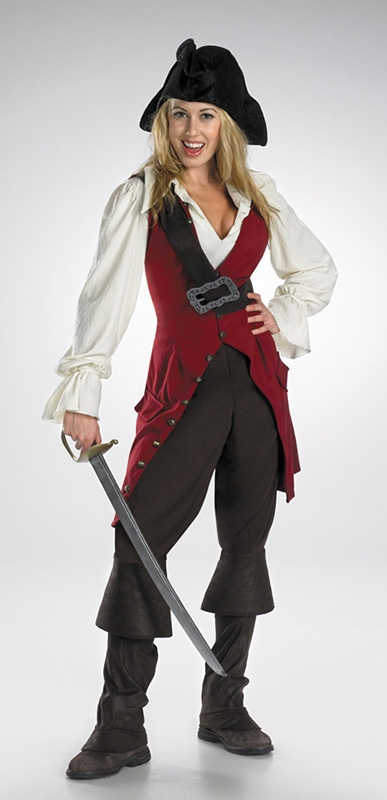 sc 1 st  SpookShop & Junior Girls Deluxe Elizabeth Swann Pirate Costume