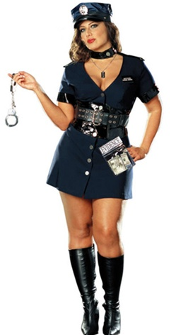 Sexy Plus Size Cop Costume