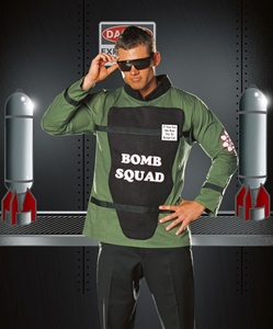 Men's Bomb Squad Costume