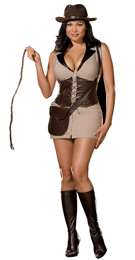 Alternative Views  sc 1 st  SpookShop & Sexy Plus Size Indiana Jones Style Costume