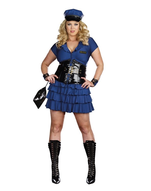 Sexy Plus Size Police Woman Costume - Officer - Cop